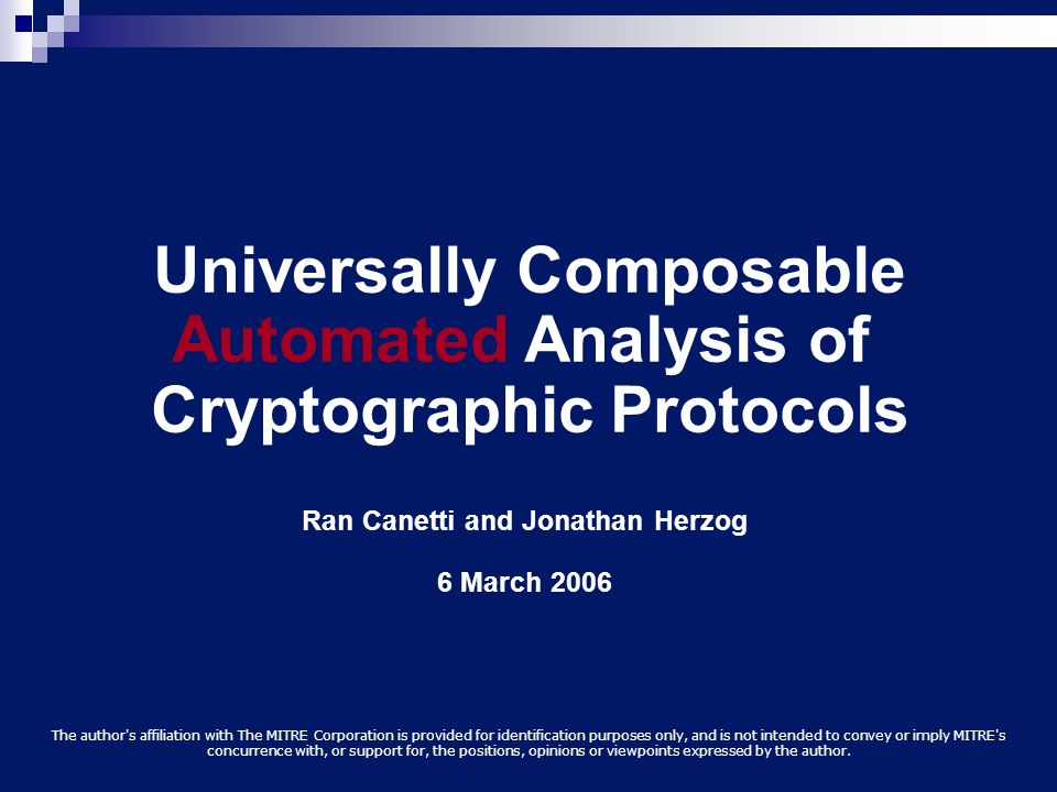 Universally Composable Automated Analysis of Cryptographic Protocols