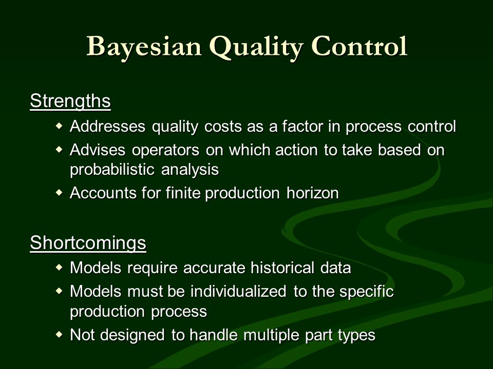 Bayesian Quality Control