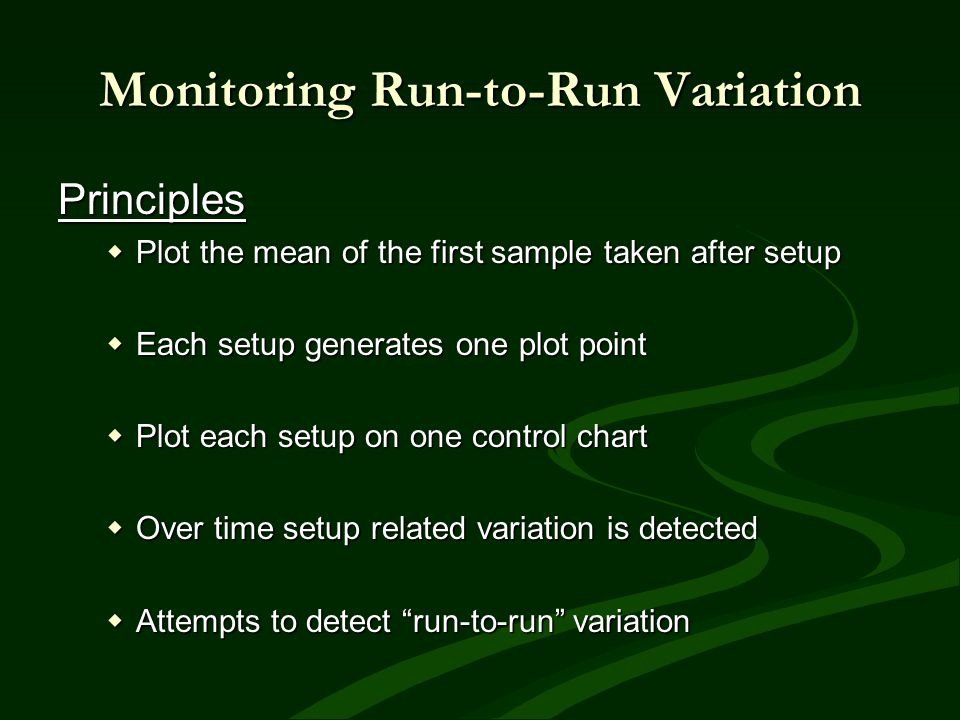 Monitoring Run-to-Run Variation