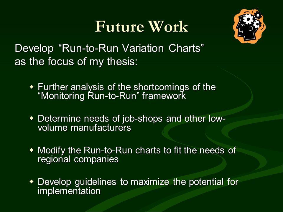 Future Work Develop Run-to-Run Variation Charts