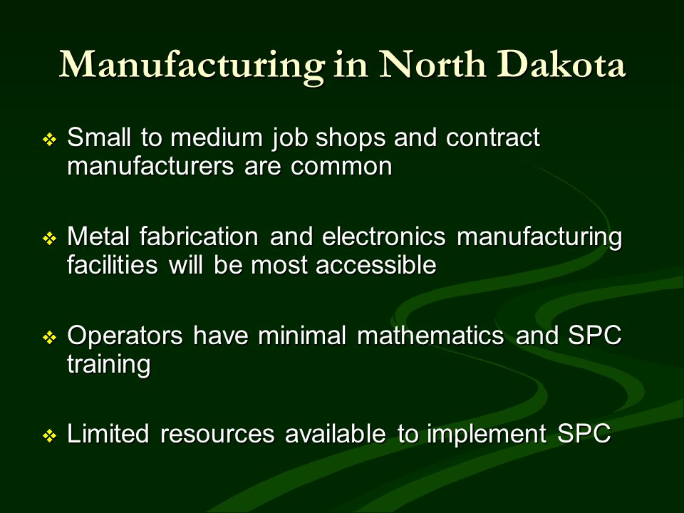 Manufacturing in North Dakota