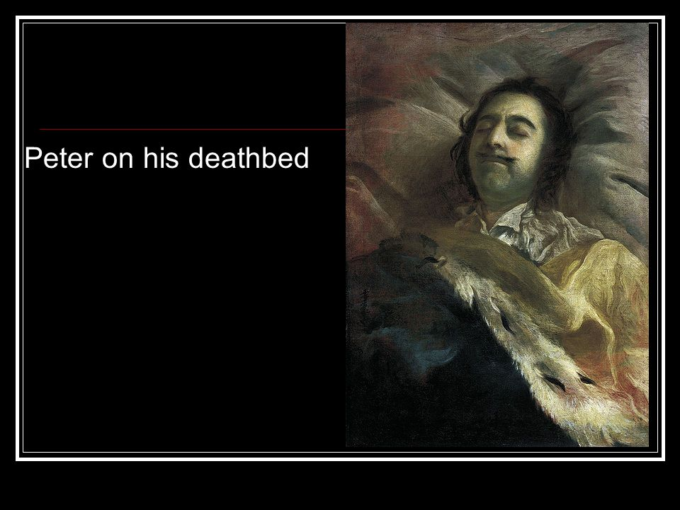 Peter on his deathbed