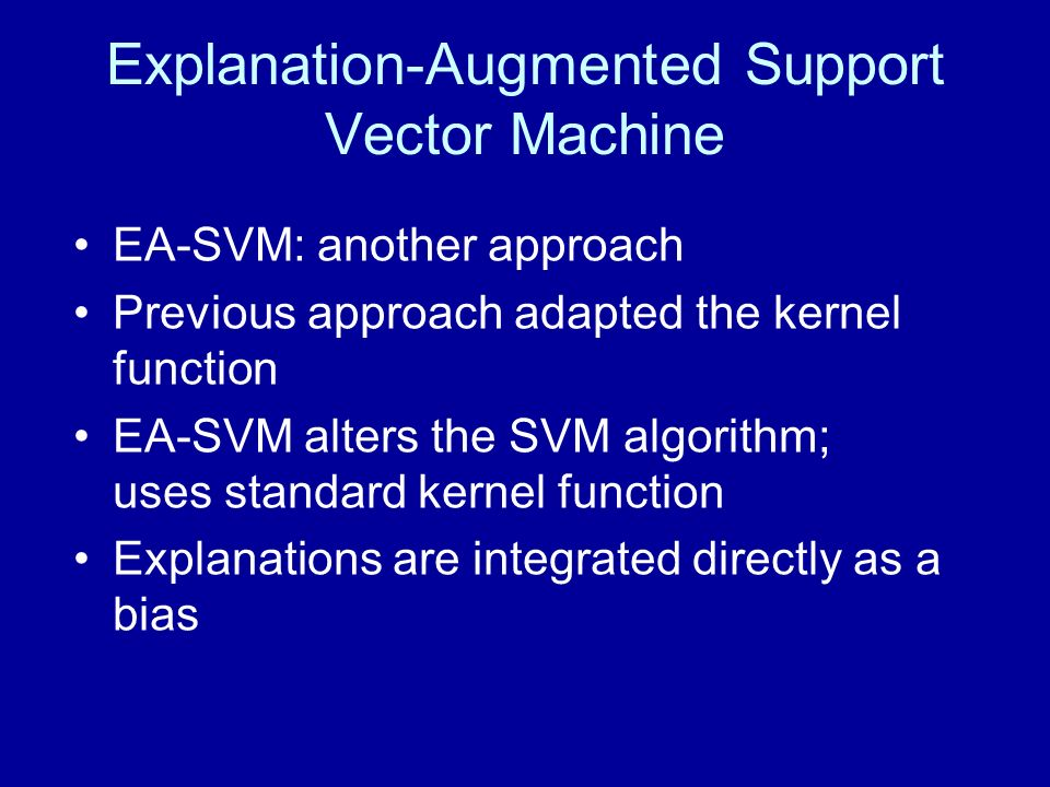 Explanation-Augmented Support Vector Machine