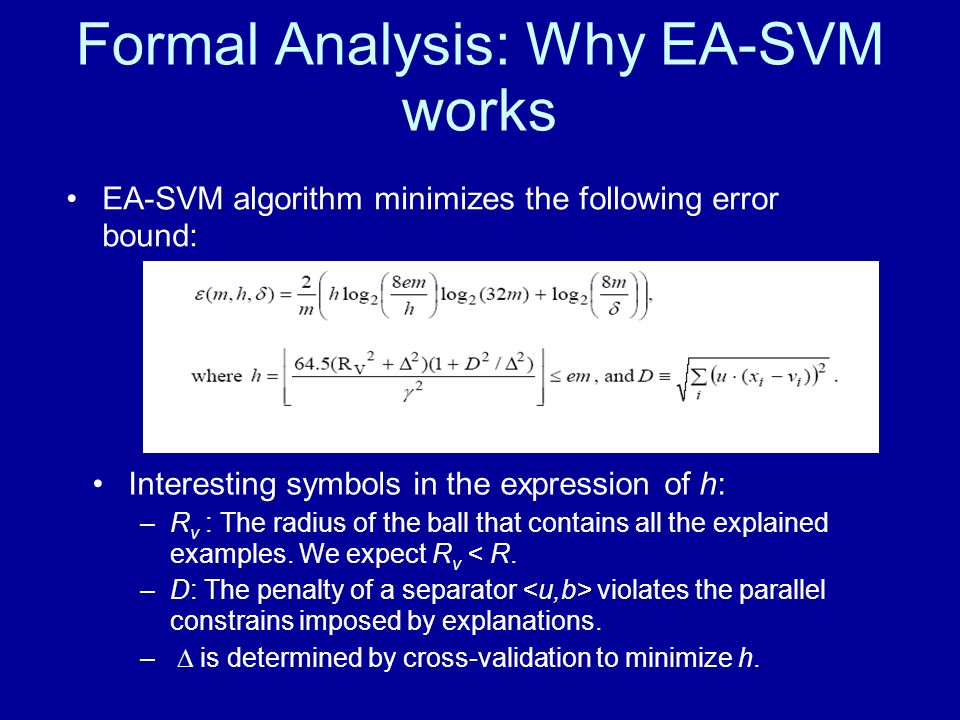 Formal Analysis: Why EA-SVM works