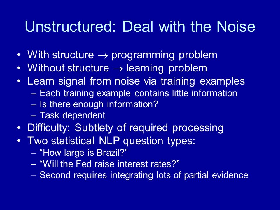 Unstructured: Deal with the Noise
