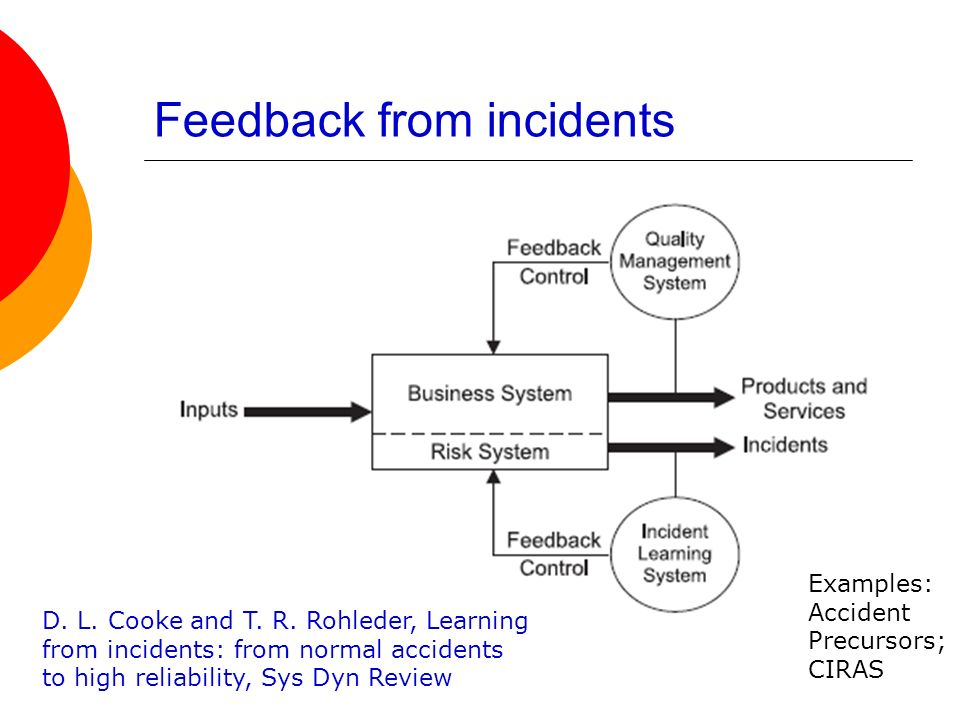 Feedback from incidents
