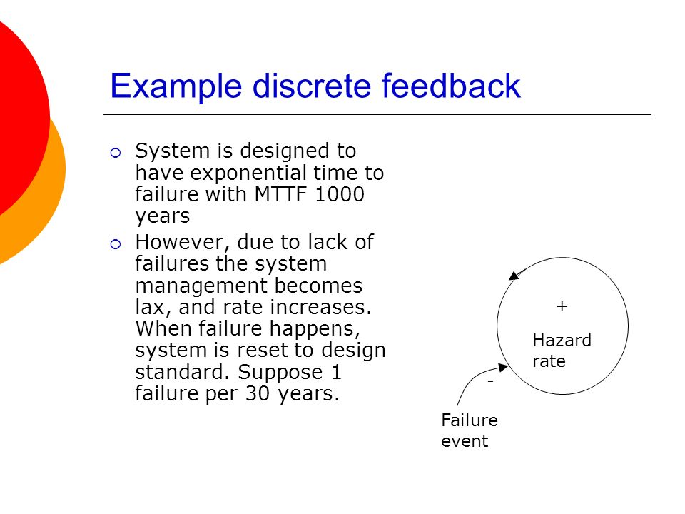 Example discrete feedback