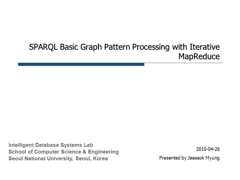 SPARQL Basic Graph Pattern Processing with Iterative MapReduce