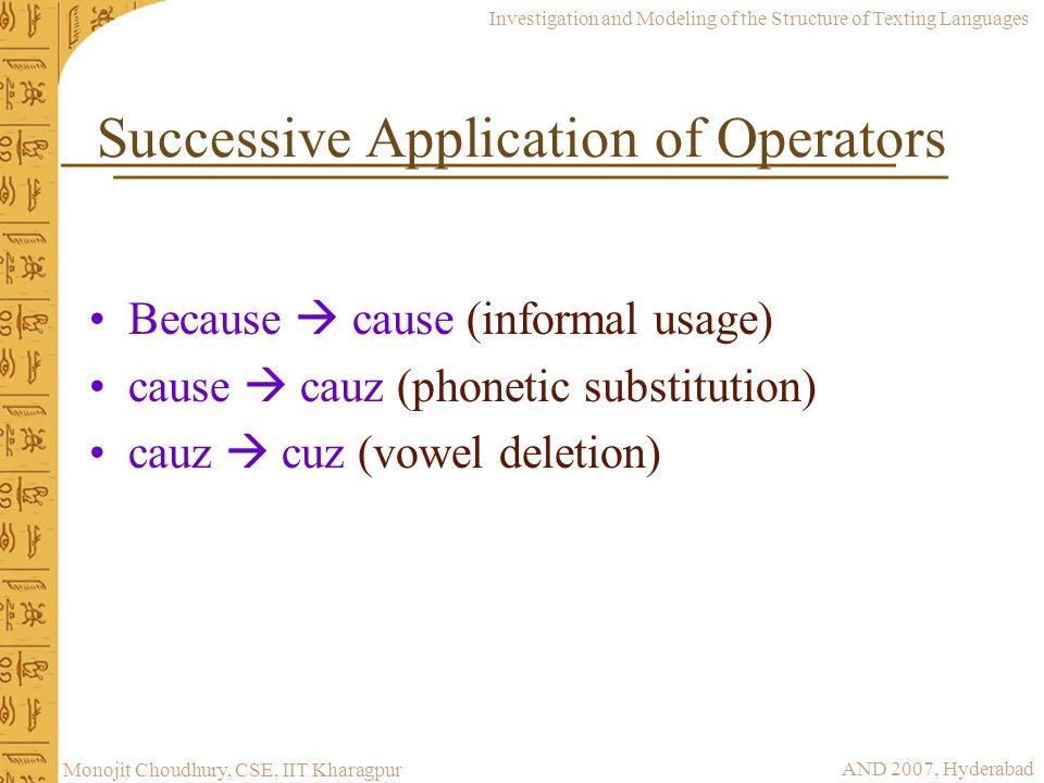 Successive Application of Operators
