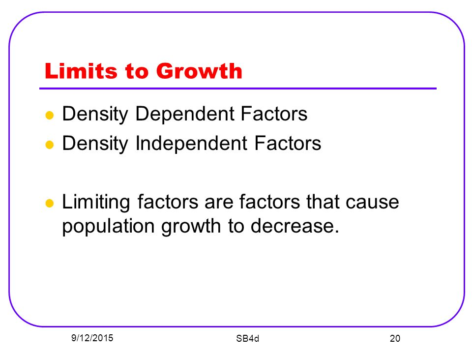 Population Growth Increase in population = population ...