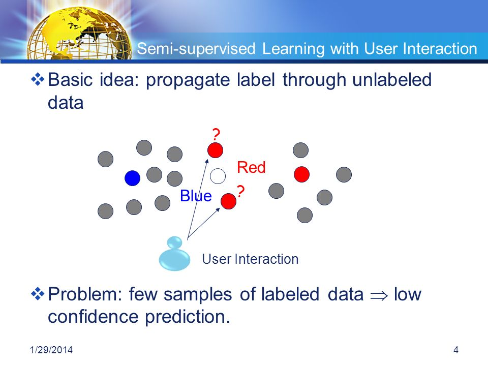 Semi-supervised Learning with User Interaction