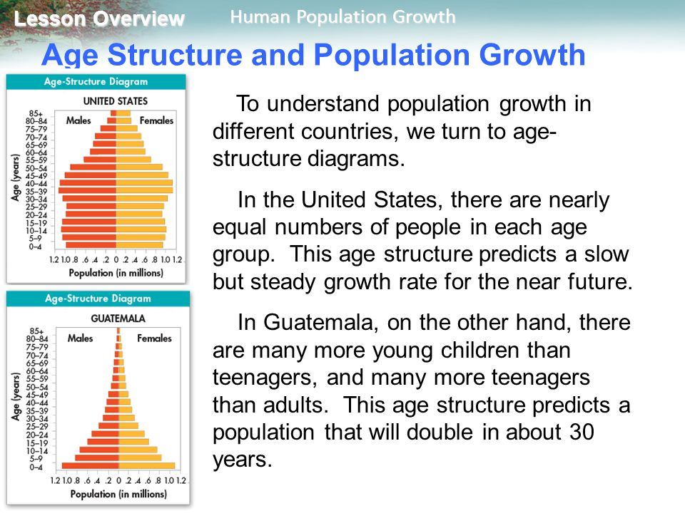 how to read age structure diagrams