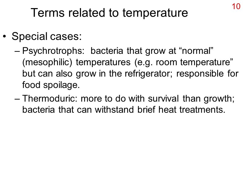 Terms related to temperature