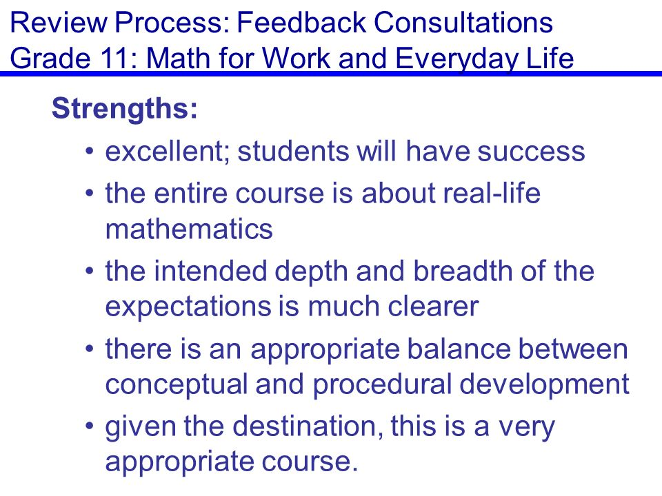 Senior Mathematics Curriculum Revision - ppt download