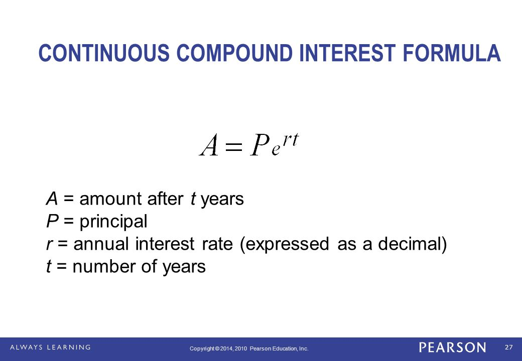 Compounded Daily Interest.Math 1300: Section 3 2 Compound ...