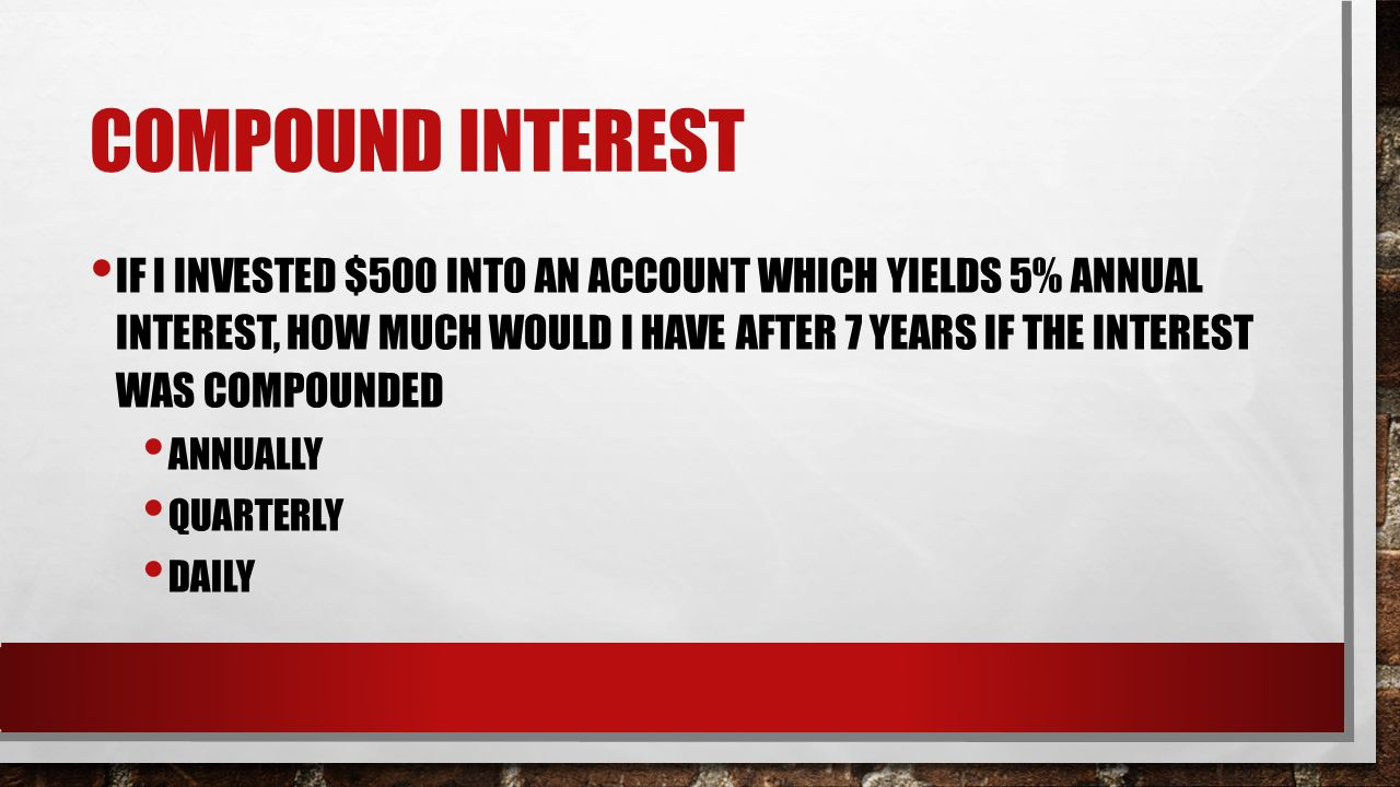 Daily compound interest calculator forex