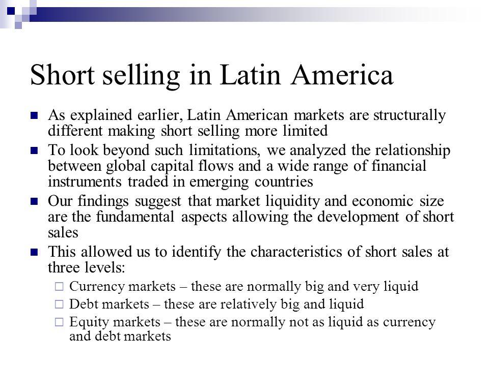 Short selling in Latin America