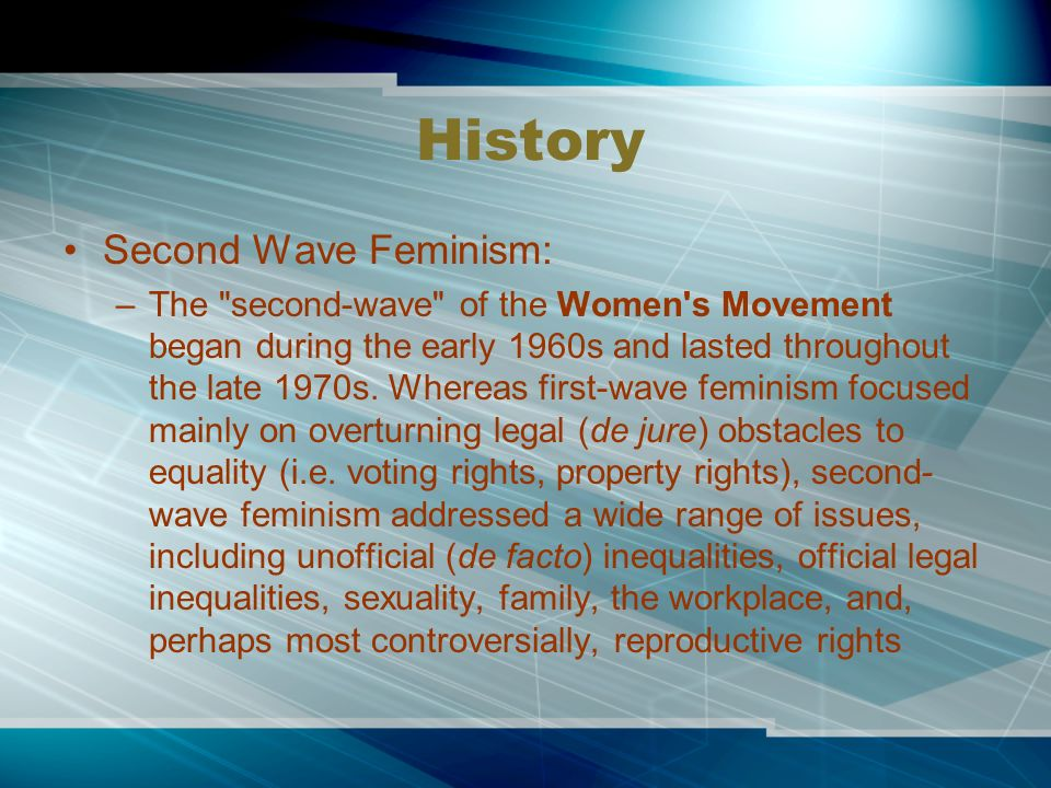 the history of feminism in literature History and theories of feminism it is manifest in a variety of disciplines such as feminist geography, feminist history and feminist literary criticism.
