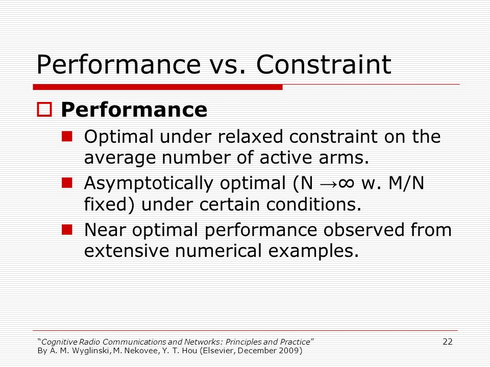 Performance vs. Constraint