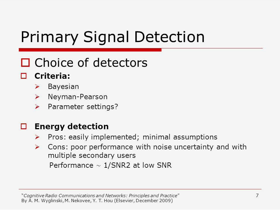 Primary Signal Detection