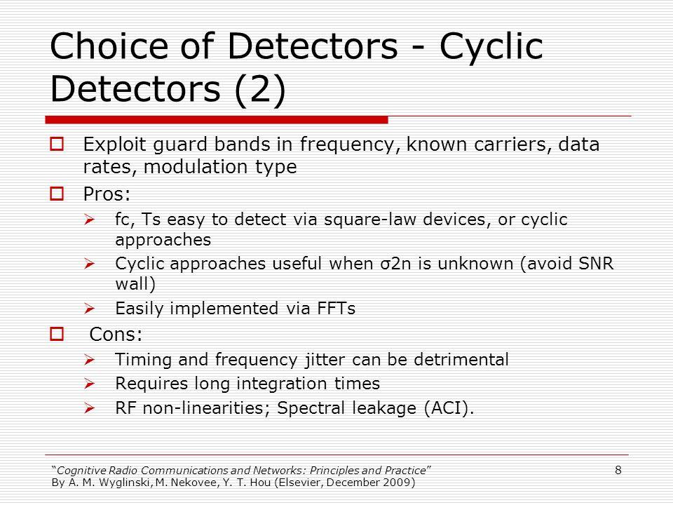 Choice of Detectors - Cyclic Detectors (2)