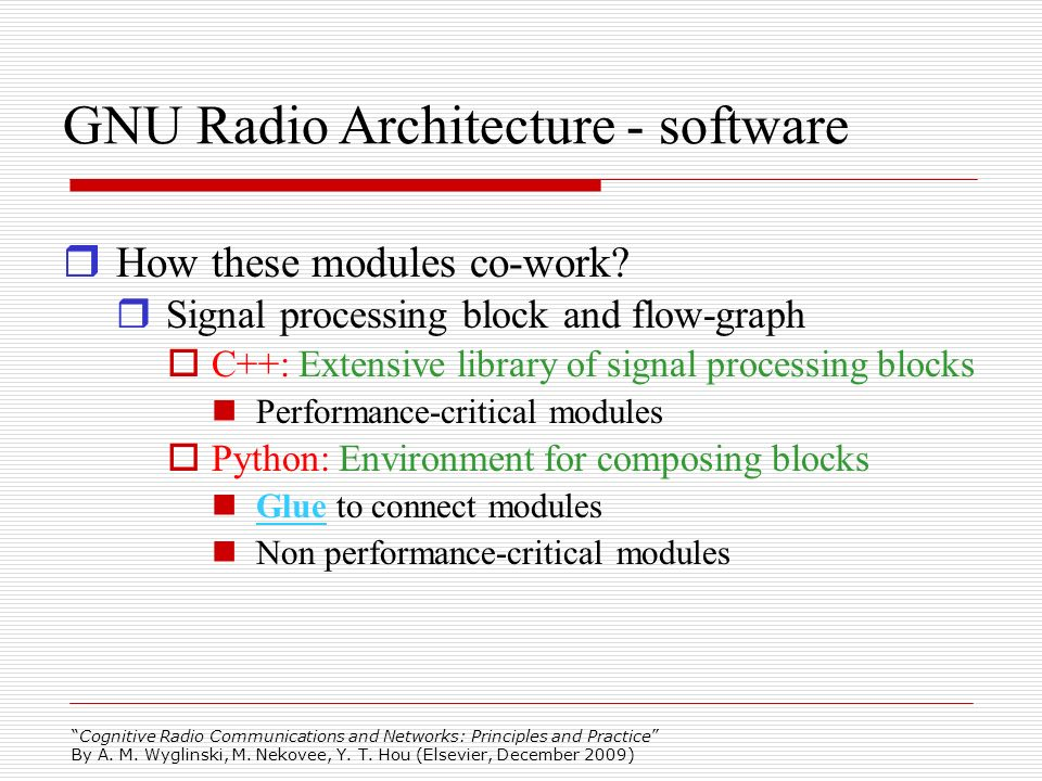 GNU Radio Architecture - software