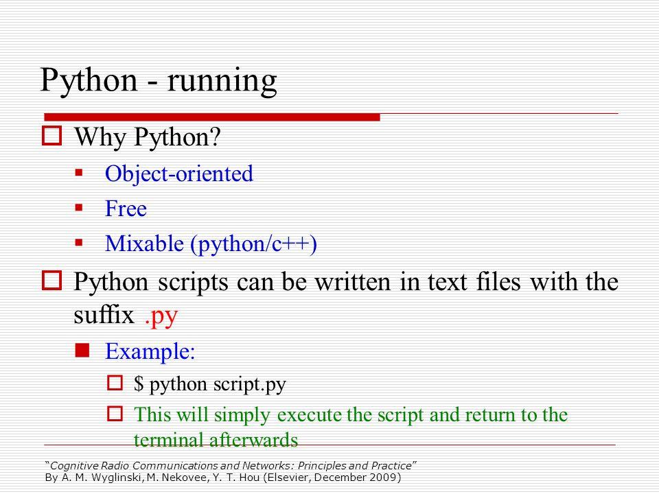 Python - running Why Python