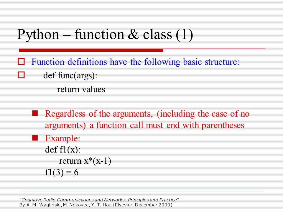 Python – function & class (1)
