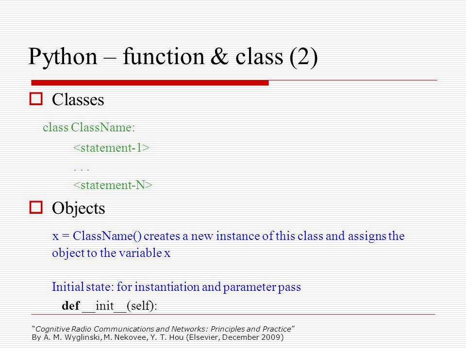 Python – function & class (2)