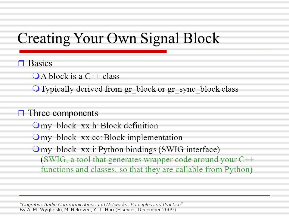 Creating Your Own Signal Block