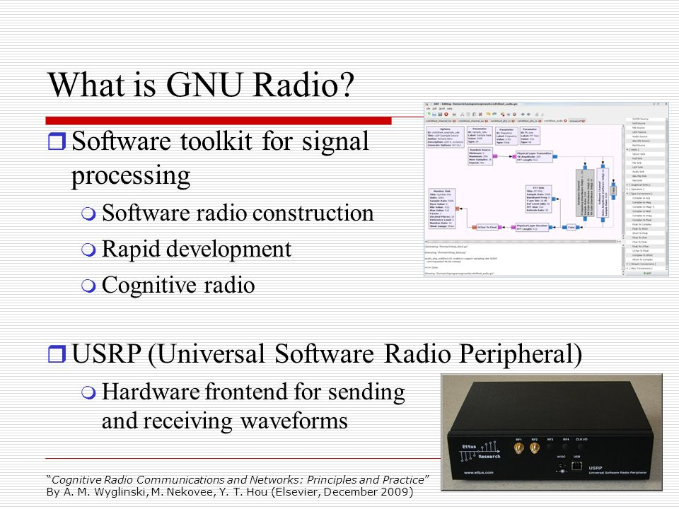 What is GNU Radio Software toolkit for signal processing