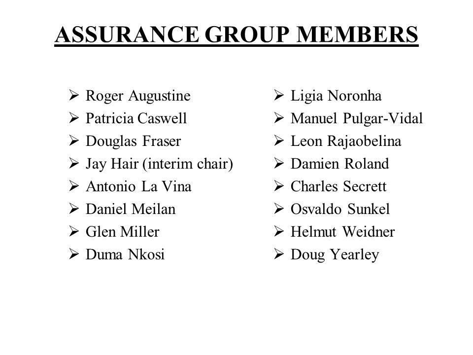 ASSURANCE GROUP MEMBERS
