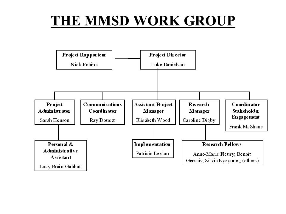 THE MMSD WORK GROUP
