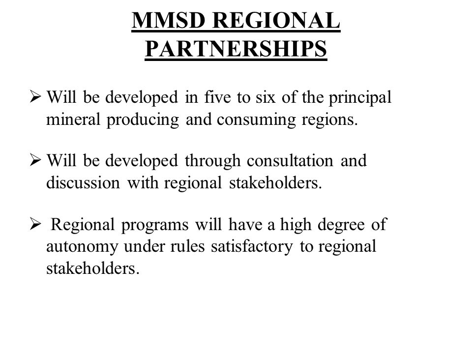 MMSD REGIONAL PARTNERSHIPS