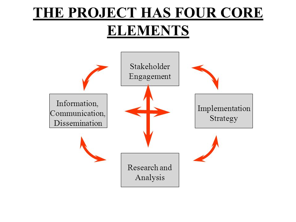 THE PROJECT HAS FOUR CORE ELEMENTS