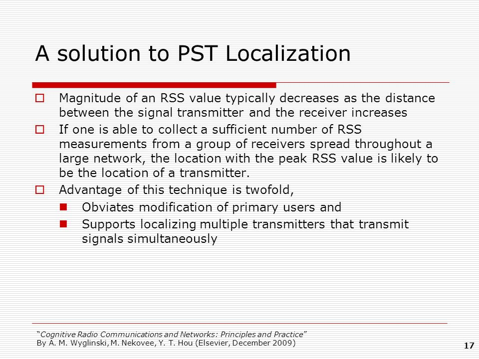 A solution to PST Localization