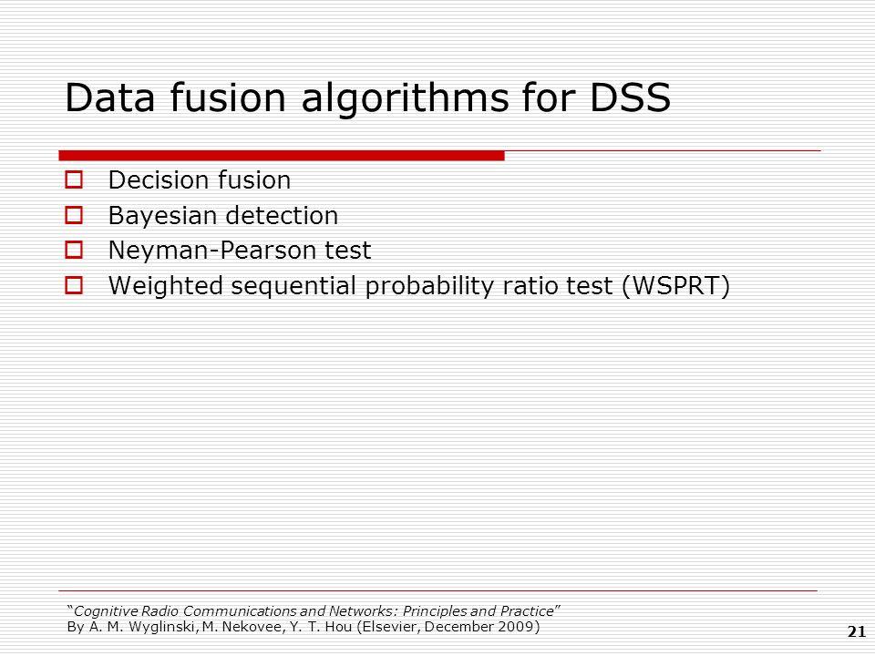 Data fusion algorithms for DSS