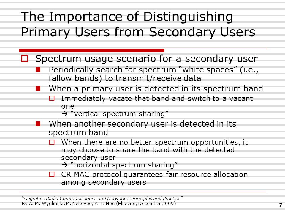 The Importance of Distinguishing Primary Users from Secondary Users