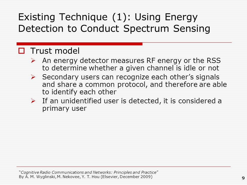 Existing Technique (1): Using Energy Detection to Conduct Spectrum Sensing