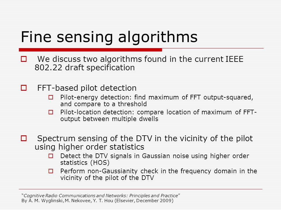 Fine sensing algorithms