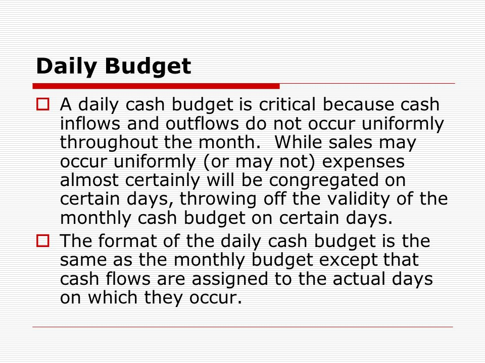 Daily Budget