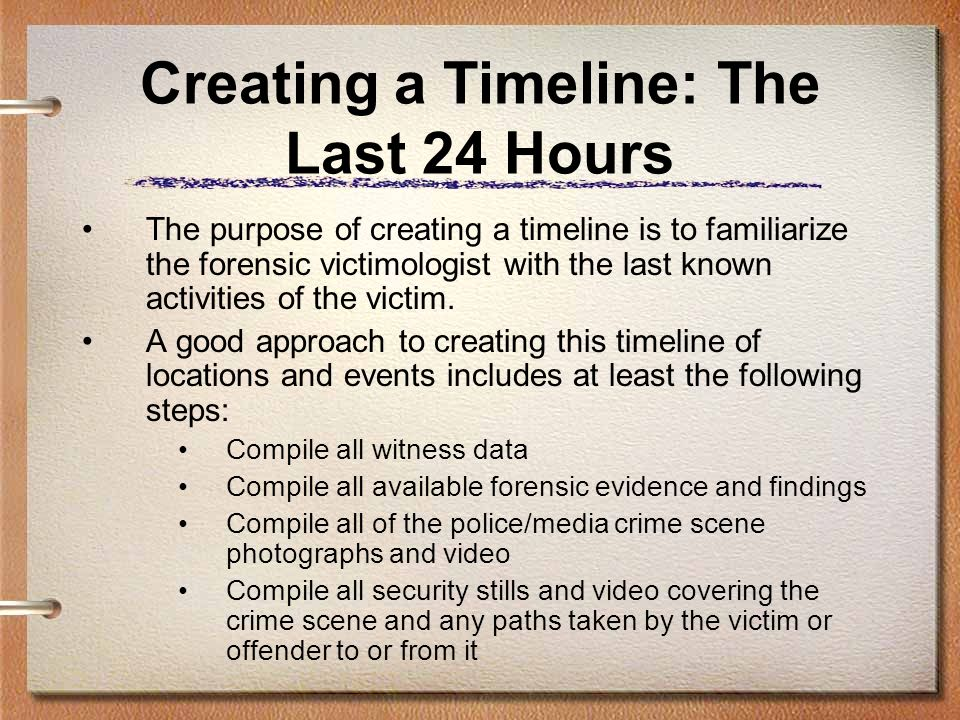 Creating a Timeline: The Last 24 Hours