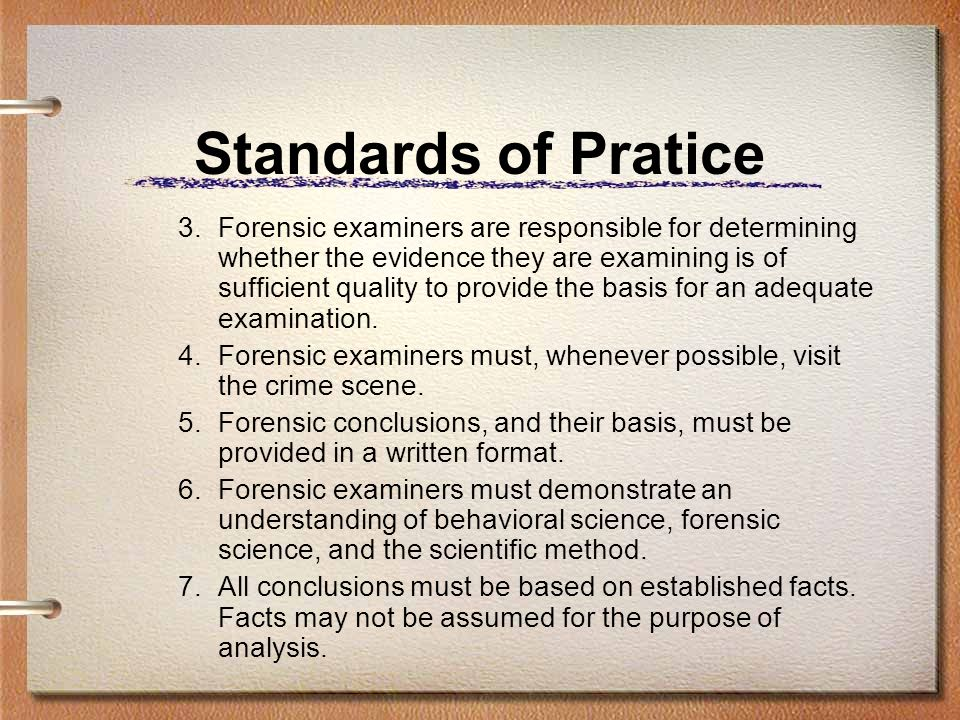 Standards of Pratice