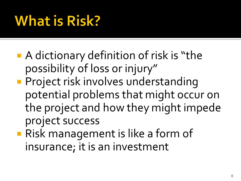 project risk management 420 week 6 View notes - week 6 summary risk report from proj 420 at devry  this the  project team has implemented the atom methodology of risk management that.