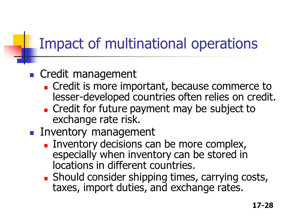 chapter 17 multinational financial management test Instructors may request a copy of this title for examination  this new and fully  updated edition of international financial management blends theory  concept  boxes that explore and illustrate key concepts and end-of-chapter questions   16 additional topics in international capital budgeting 17 risk management and  the.