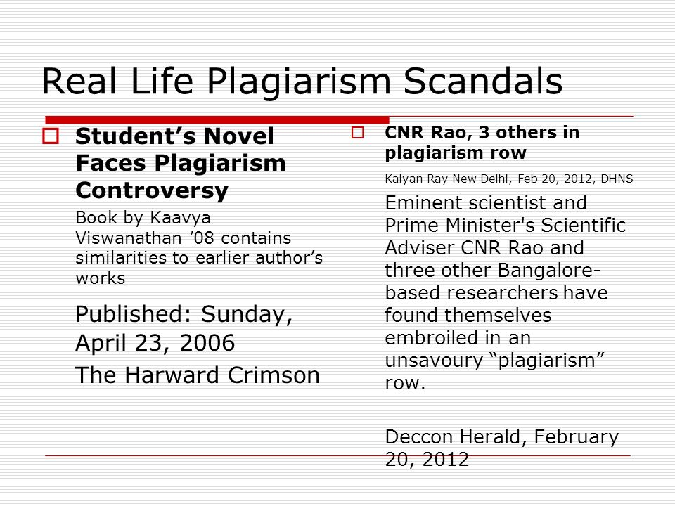 When plagiarism is academic