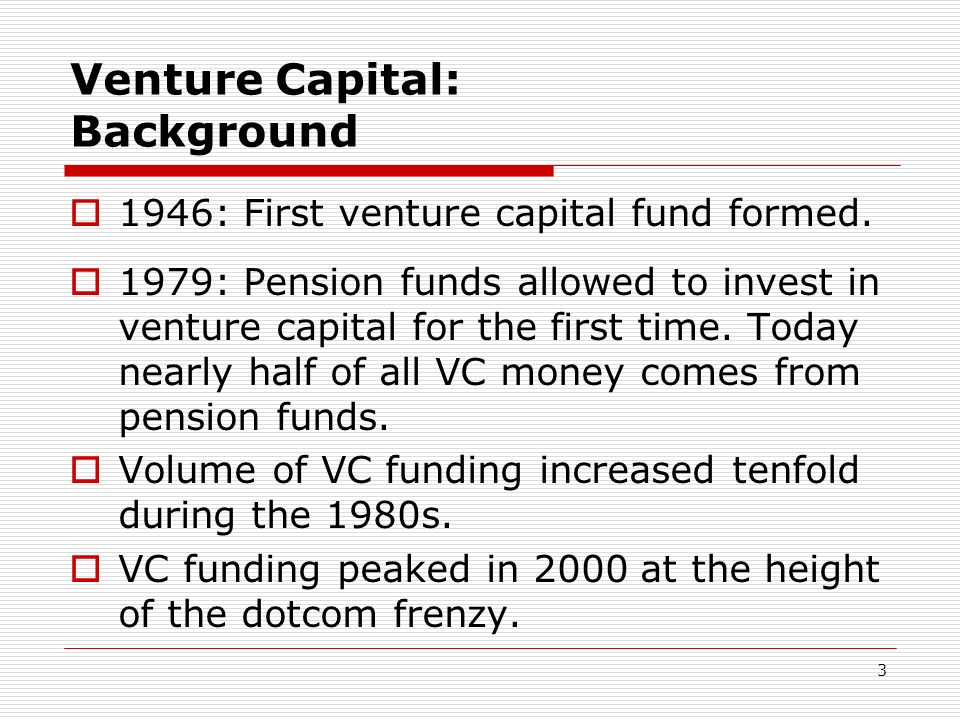 Venture Capital: Background