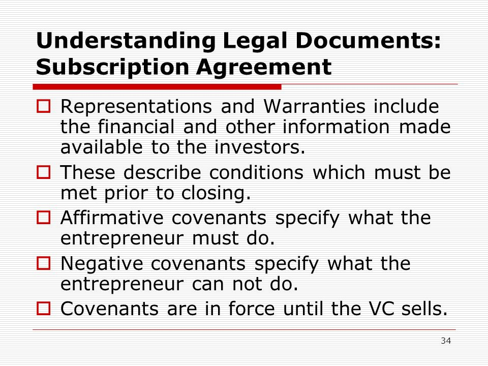 Understanding Legal Documents: Subscription Agreement