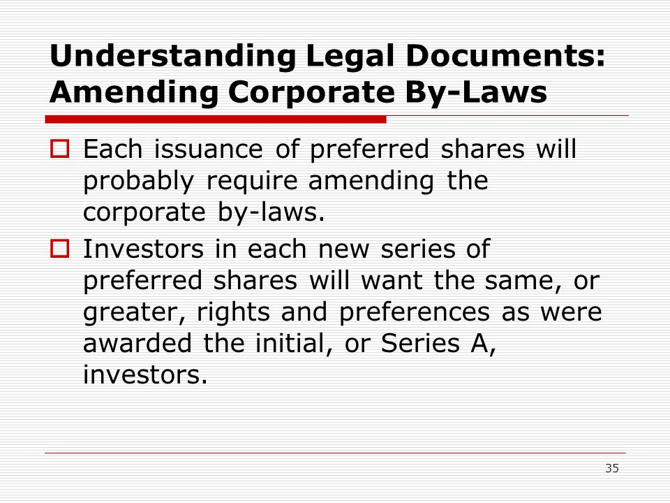 Understanding Legal Documents: Amending Corporate By-Laws