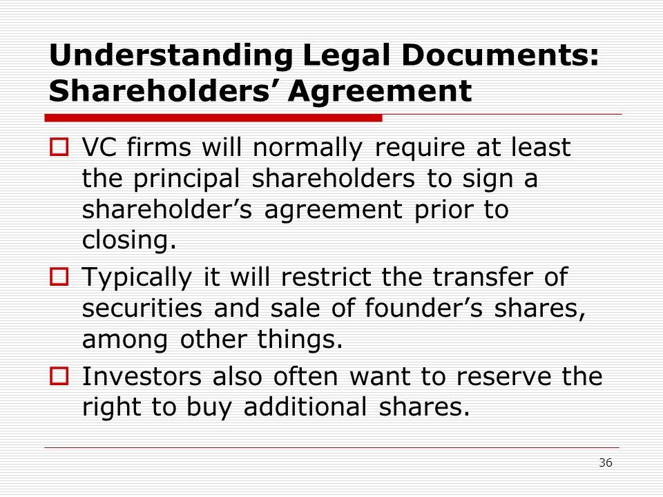 Understanding Legal Documents: Shareholders' Agreement